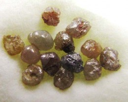 PARCEL  RAW ROUGH AFRICAN  DIAMONDS  ONE CARATS     OP 1210
