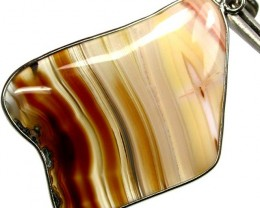 BEAUTIFUL PATERNED AGATE FREE SHIPPING   61.79 CTS [G4 ]