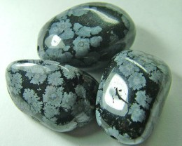 SNOWFLAKE OBSIDIAN BEADS  91.70 CTS AS  5048