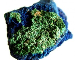 AZURITE +MALACHITE SPECIMEN FROM MOROCCO 28.95 CTS [MX6230]