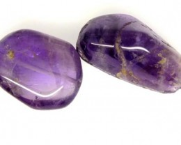 AMETHYST BEAD NATURAL 2 PCS 38 CTS  NP-1541