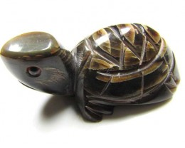 BUFFALO HORN CARVING OF CUTE TURTLE 88   CTS  GTT 1492