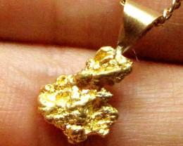 GOLD NUGGET PENDANT 1.41  GRAMS LGN 873