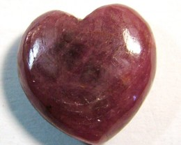 RED RUBY HEART CARVING 12.20CTS PG-555