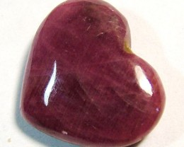 RED RUBY HEART CARVING 13CTS PG-549