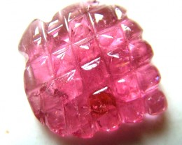 PINK TOURMALINE CARVING 8  CTS SG-1124