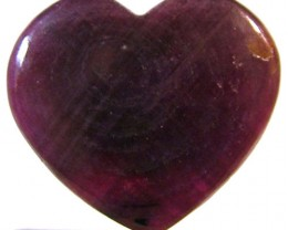 RED RUBY HEART CARVING 14.15 CTS PG-556