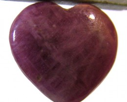 RED RUBY HEART CARVING 12.95 CTS PG-587