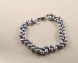 Natural Fresh Pearl Bracelet Double Strand  FWB-05