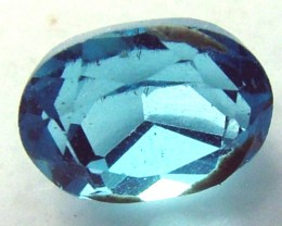 BLUE FACETED ZIRCON CAMBODIA 1 CTS  SG- 1175