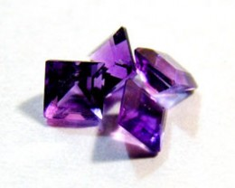 AMETHYST FACETED ( 8 pc )  1.3 CTS CG-1443