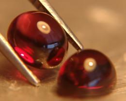 Matched Rhodolite Garnet Cabochons 4.18 Tcw. - Gorgeous