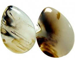 PAIR MONTANA USA AGATE 50.20 CTS [MX 6654]