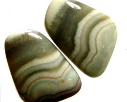 LAGUNA LACE  AGATE-PAIRS   - POLISHED  35.40 CTS [MX6668 ]