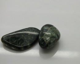 GREEN SERAPHINITE  54 CTS ADG-260