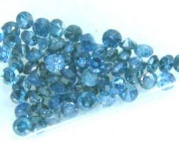 DIAMONDS -BLUE COLOUR   PARCEL  1 CTS 64 PCS  SD-3