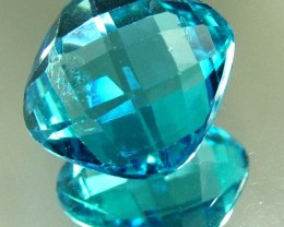 LONDON  BLUE  TOPAZ --CUT BOTH SIDES - 10.07 CTS [TS822 ]