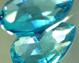 LONDON  BLUE  TOPAZ --CUT BOTH SIDES -VS- 4.37  CTS [TS835 ]