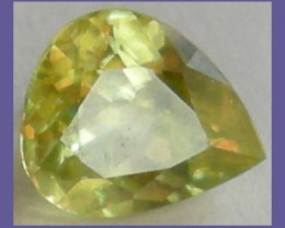 """VERY FIESTY 1.26CT GLORIOUS YELLOW/GREEN SPHENE PEAR!!"""