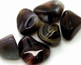 BANDED AGATE 6 STONES 136 CTS ADG-354