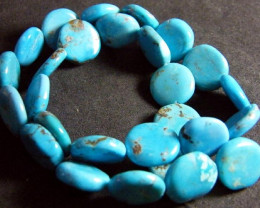 NATURAL TURQUOISE BEADS STRAND 225 CTS [TB8]