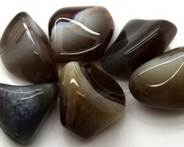 BANDED AGATE 6 STONES 139 CTS ADG-321