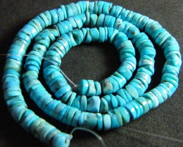 NATURAL TURQUOISE BEADS STRAND 110 CTS [TB8]