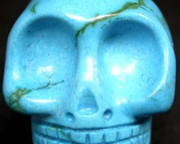 COOL TURQUOISE SKULL   66.55  CTS [G14  ]