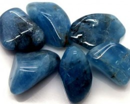 BLUE BERYL PARCEL OF 6 STONES 89 CTS ADG-340