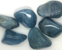 BLUE BERYL PARCEL OF 6 STONES 89 CTS ADG-342