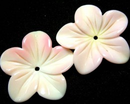BAHAMAS CONCH SHELL  FLOWER CARVING  -  18.39 CTS [PF 1505]
