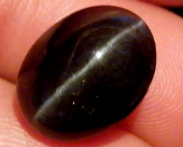 SIX STAR  BLACK DIOPSIDE STONE  4.3 CTS  ST 849