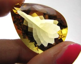 FREE SHIP CERTIFIED   HONEY GOLD CITRINE 43.15  CTS 0486