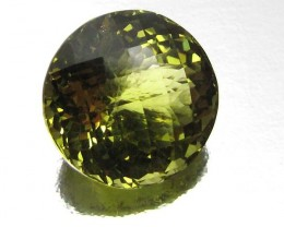 CERTIFIED  LARGE ROUND YELLOW CITRINE 36.6 CTS 0485