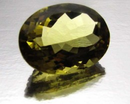 CERTIFIED GOLDEN OLIVE YELLOW CITRINE18.17  CTS 0708