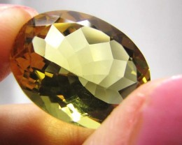 FREE SHIP CERT. GOLDEN OLIVE YELLOW  CITRINE16.94  CTS 0710