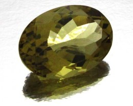CERTIFIED  GOLDEN OLIVE YELLOW  CITRINE 12.60 CTS 0711