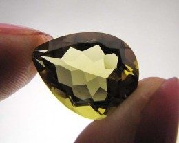 CERTIFIED  GOLDEN OLIVE YELLOW  CITRINE  7.45 CTS 0492