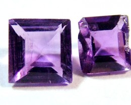 AMETHYST FACETED ( 2 PC ) 0.45 CTS CG-1159