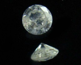 SI1 SILVER DIAMOND .106 CARATS 2.5 POINTER DIAMOND    OP1417
