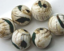 SHELL BEADS (3 PAIR) 183 CTS ADG-423