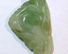 JADE CARVING  DRILLED 25 CTS  NP-931