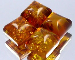 AMBER 2.30 CARAT WEIGHT PARCEL FANCY CUT BALTIC AMBER GEMS