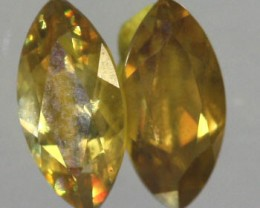 VVS SPARKLING COLOURFUL SPHENE .51 CTS [S5153   ]