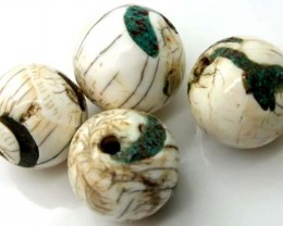 SHELL BEADS ( 4 PCS) 119 CTS ADG-285