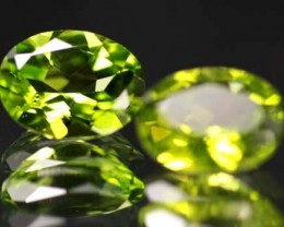 VS  -PAIR-PERIDOT STONE-OVAL   3.70 CTS [S5311 ]