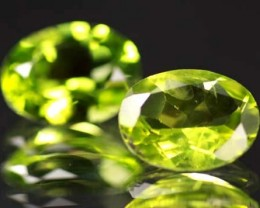 VS  -PAIR-PERIDOT STONE-OVAL   3.51 CTS [S 5312 ]