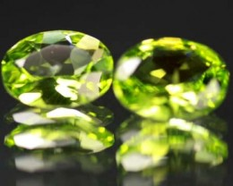 VS  -PAIR-PERIDOT STONE-OVAL   3.21 CTS [S 5313 ]