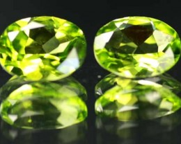 VS  -PAIR-PERIDOT STONE-OVAL  3.61 CTS [S 5320 ]