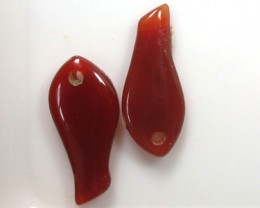 A PAIR OF AGATE STONE  GR 1199